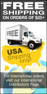Free shipping to USA on orders greater than 25 dollars.
