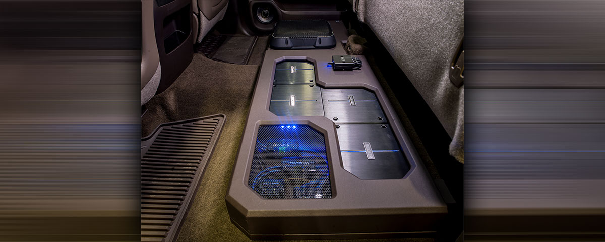 Silverado Back Seat Subwoofer and Amplifiers